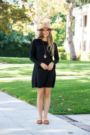 Caught Up Dress, Black