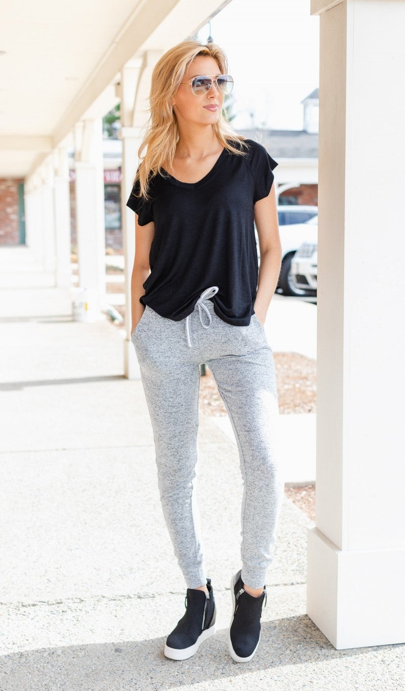 Relax With Me Joggers, Heather Grey
