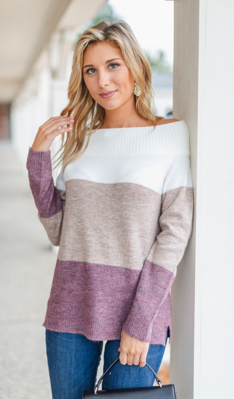 Saylor Color Block Sweater