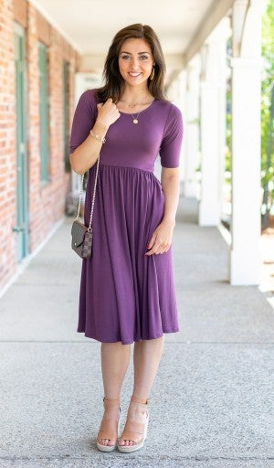 The Chloe Dress, Plum
