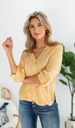 Strong Feelings Blouse, Mustard