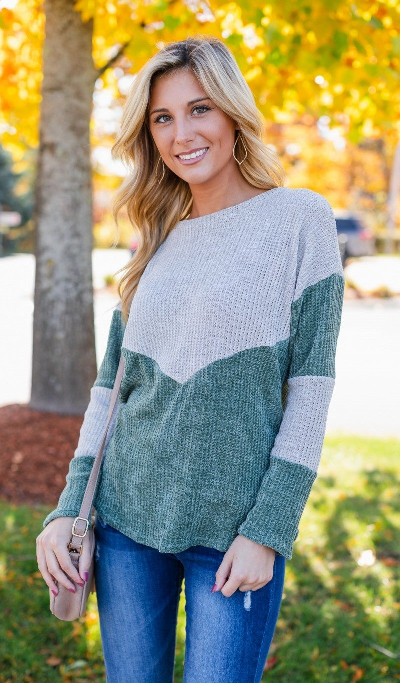 Cute To Cuddle Sweater, Sage