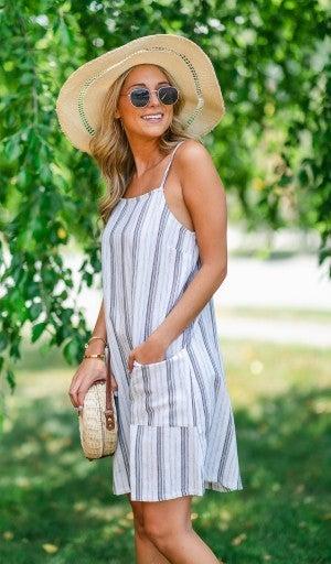 Cotton Feels Striped Dress