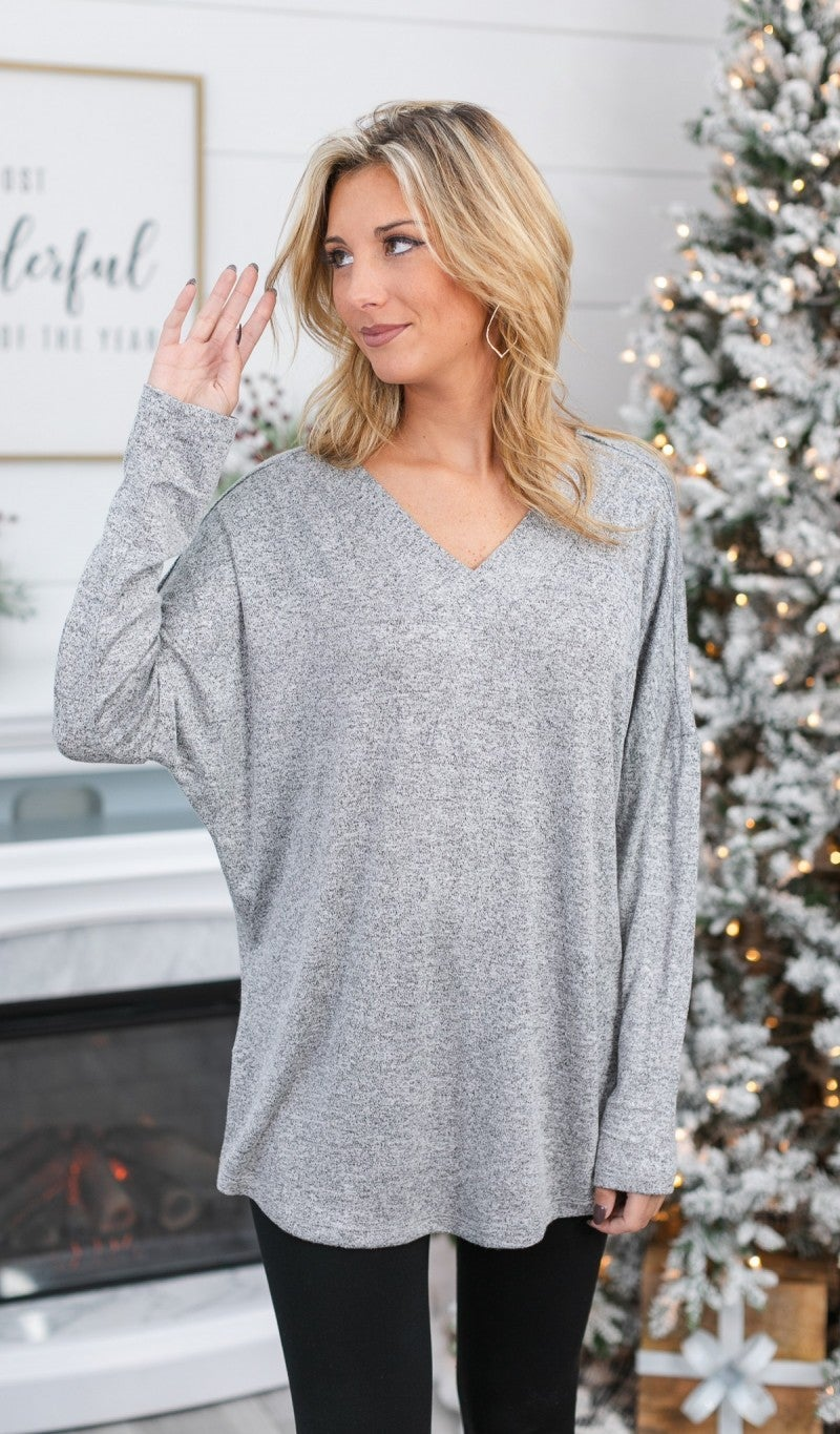 Cyber Monday! Whispers Of Snow Tunic, Grey
