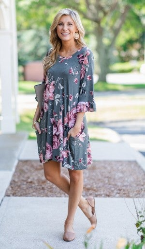 Everyday Beauty Dress, Olive