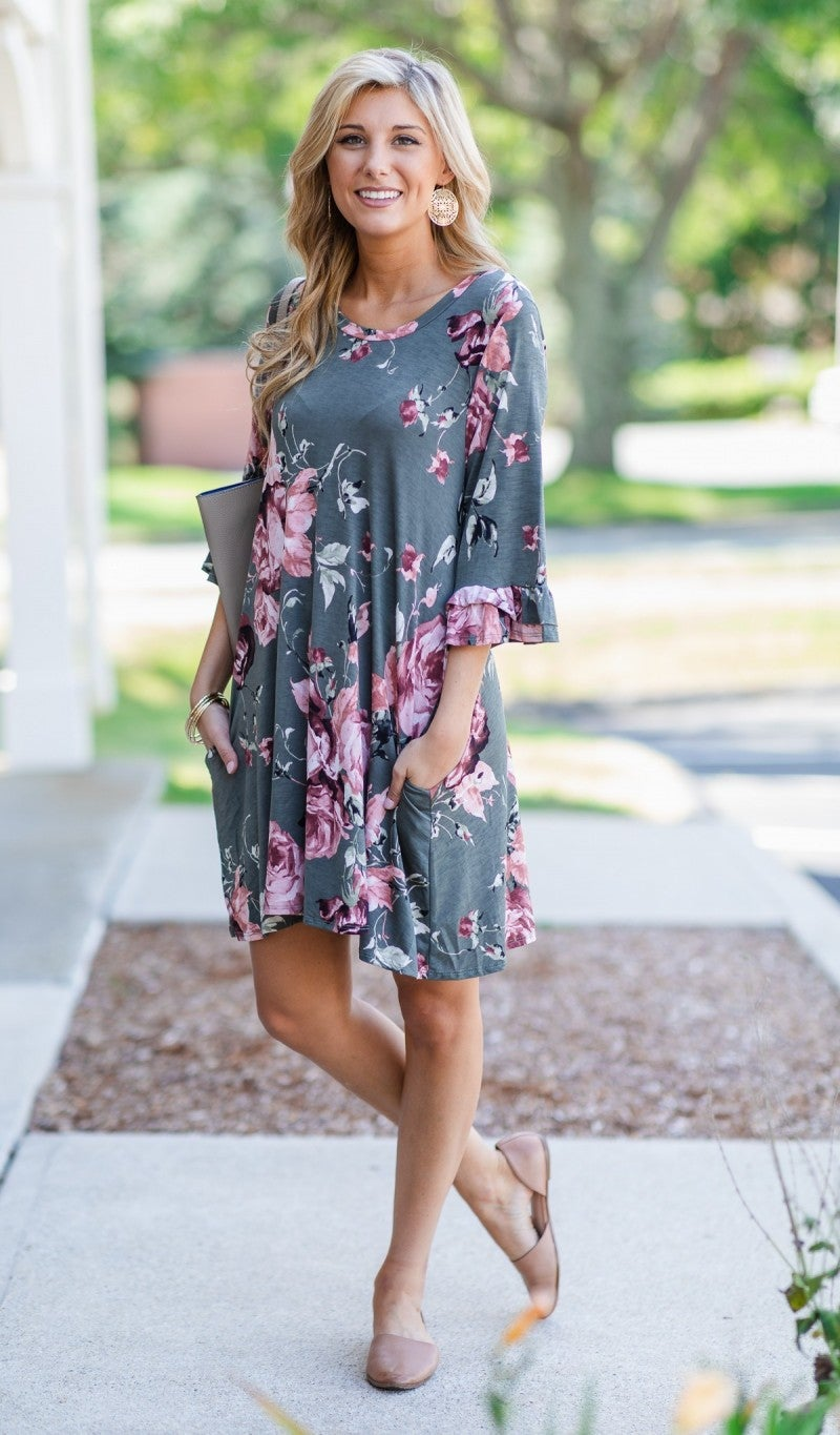Everyday Beauty Dress, Olive