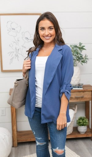 Conquer The Day Jacket, Blue