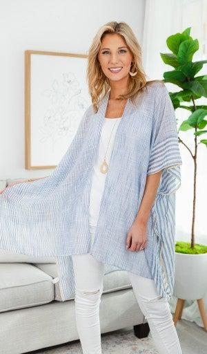 The Nova Kimono, Blue