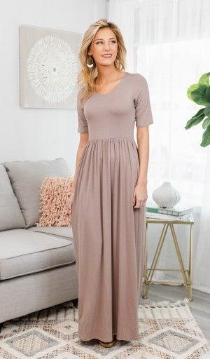 Everyday Comfort Maxi Dress, Mocha