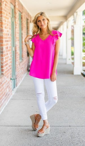 Stand Out Top, Pink