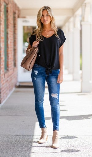 It's Not Complicated Top, Black