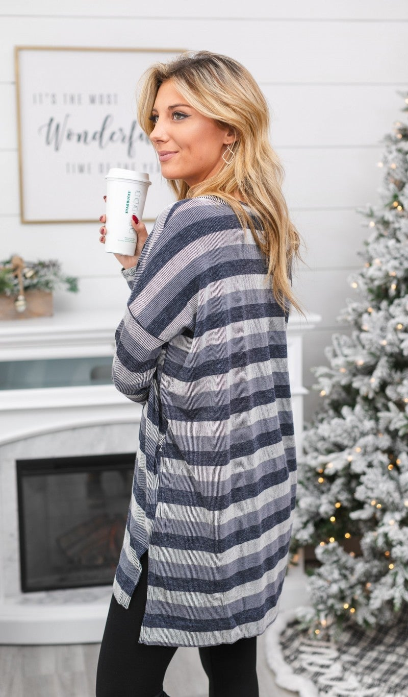 Striped Delight Tunic, Blue