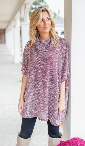 Easy To Love Tunic, Burgundy *Final Sale*