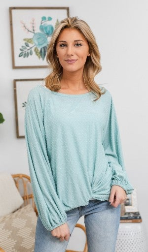 Love Is Catching Top, Sage *Final Sale*