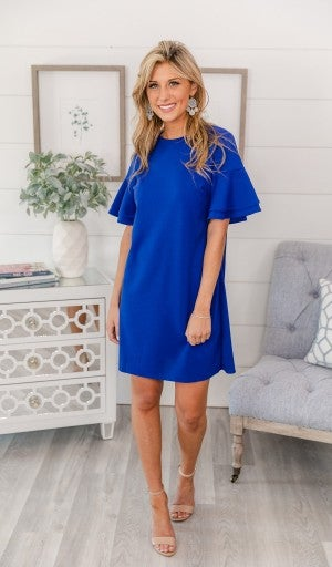 More Than Expected Dress, Cobalt