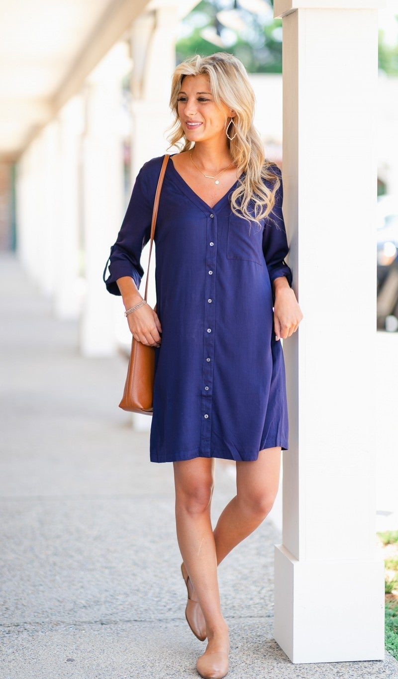 The Charlotte Dress-Navy