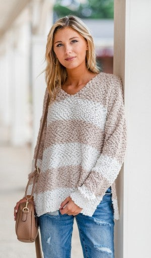Feel The Chill Sweater, Taupe