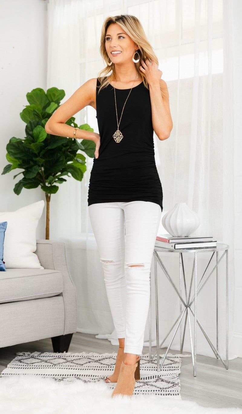Simple Beauty Tank, Rose or Black