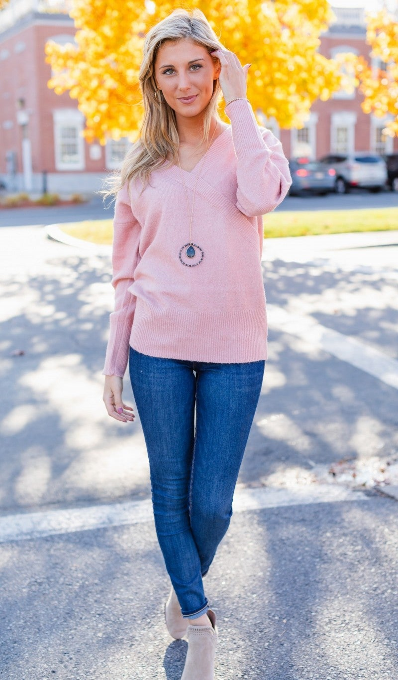 Strictly Business Sweater, Pink
