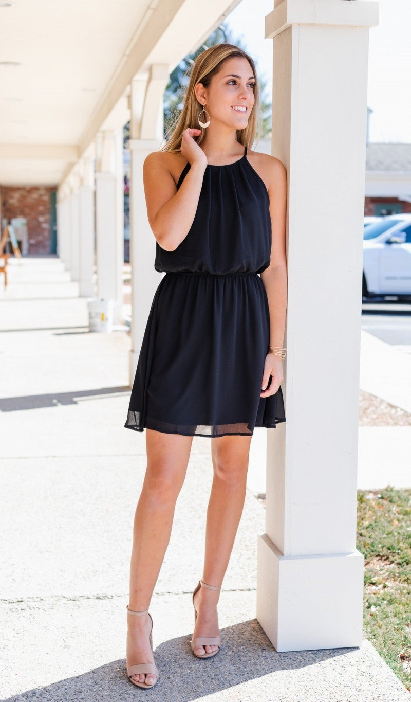 Warmer Days Ahead Dress, Black