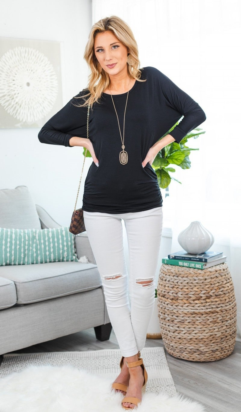 Fit To Be Fabulous Tunic, Black or Oatmeal