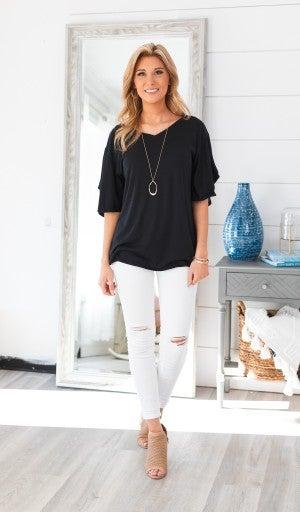 Simple Sights Top, Black