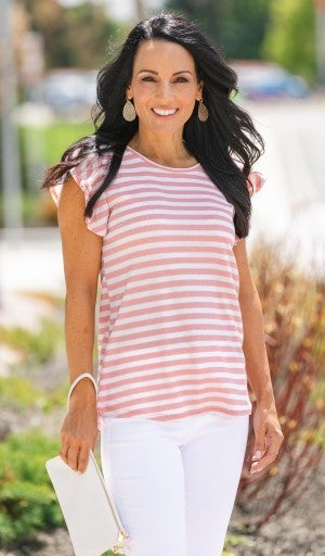 Striped Treasure Top - Blue or Pink