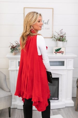 Fall Into You Vest, Ivory or Red