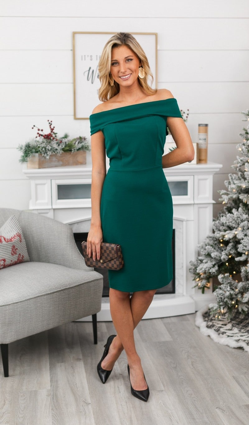 Moments Like This Dress, Hunter Green