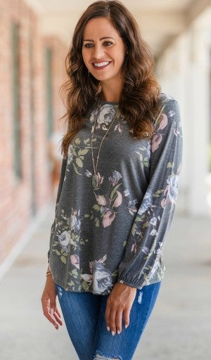 Famously Floral Long Sleeve Top