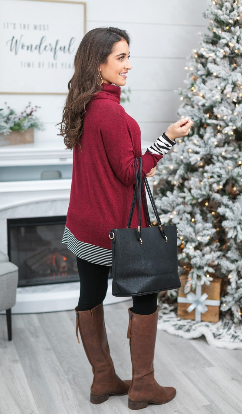 Black Friday!! All Caught up Tunic, Burgundy
