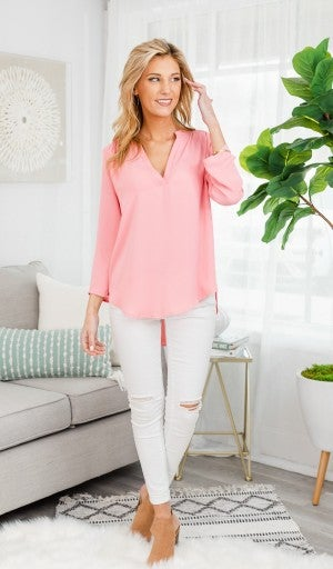 Best Impressions Blouse, Pink