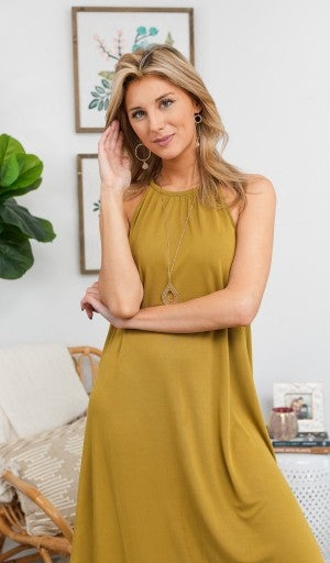 Easy To Love Midi Dress *Final Sale*, Gold