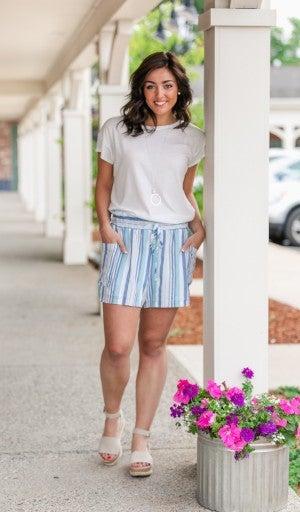 Chloe Striped Shorts