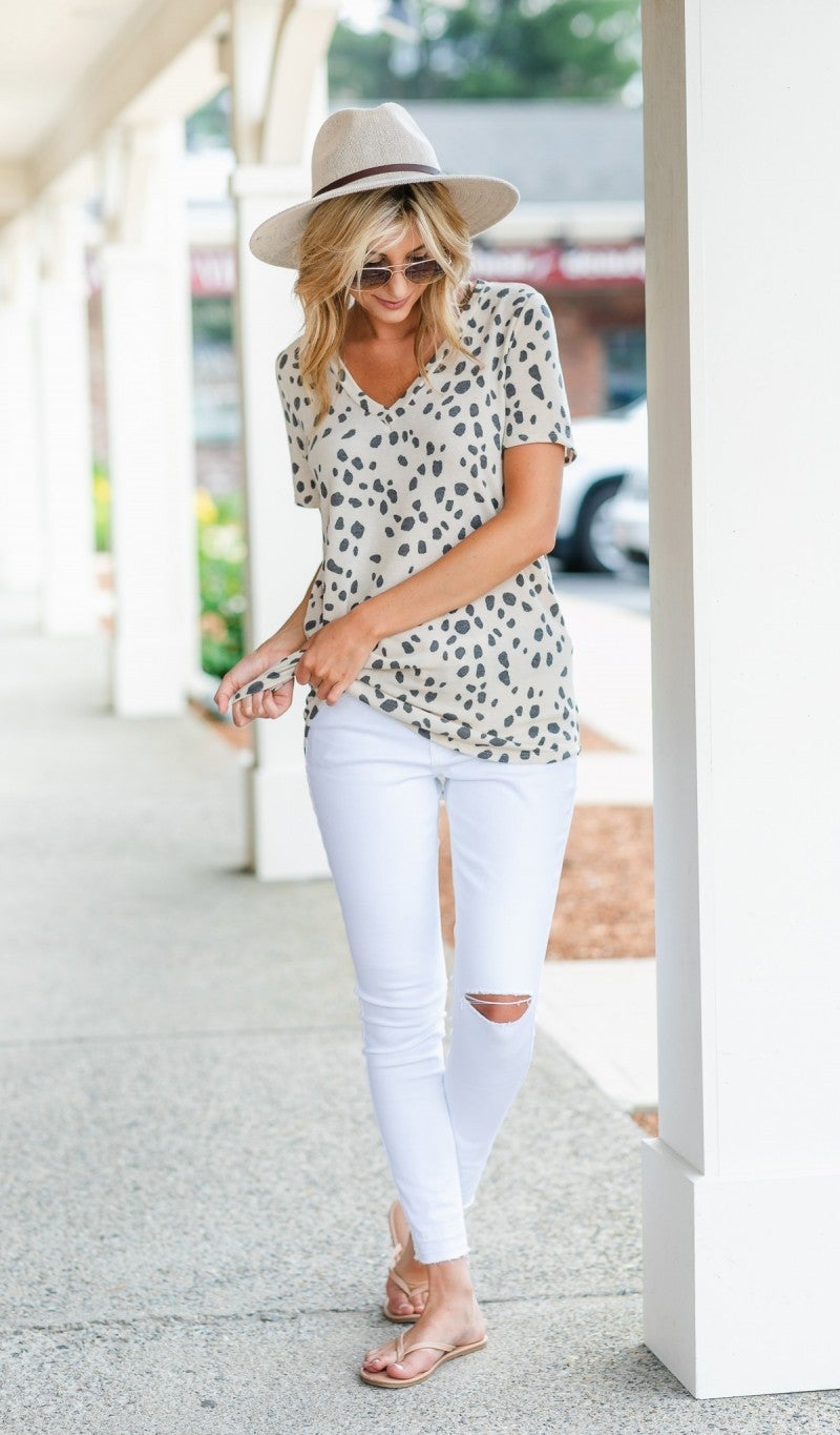 Good To you Top, Neutral Spot Print
