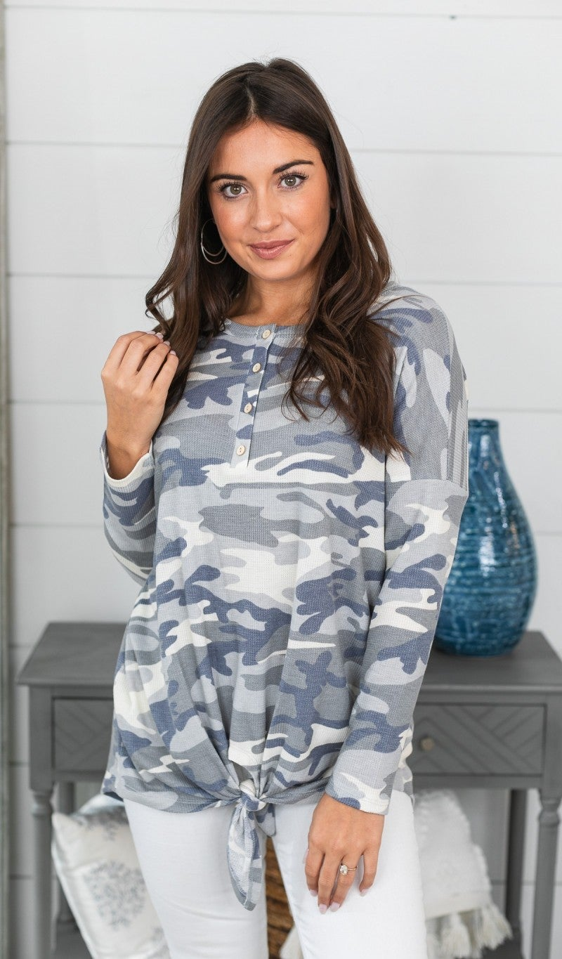 Time To Go Top, Grey Camo *Final Sale*