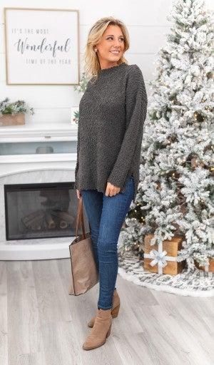 Always Around Charcoal Sweater *Final Sale*