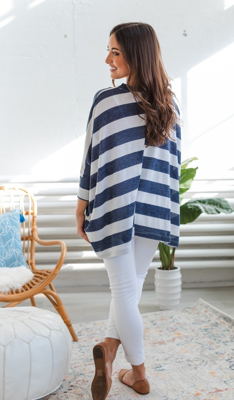 Steal Me Away Tunic, Navy or Grey