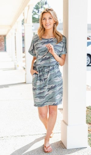 On The Run Dress, Camo