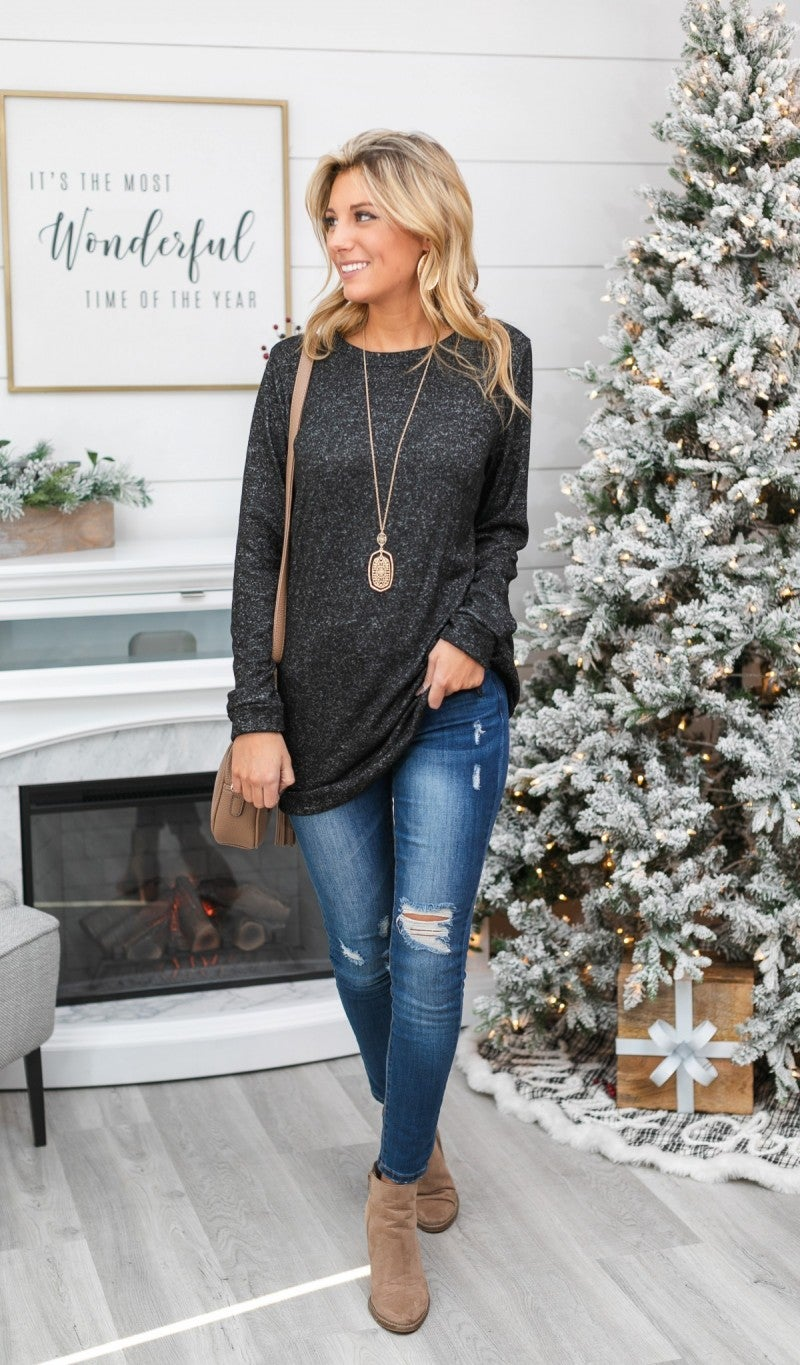Black Friday DOORBUSTER! Make Your Life Easy Tunic, Black or Denim