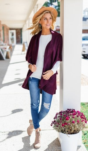 Can't Miss Me Vest, Plum