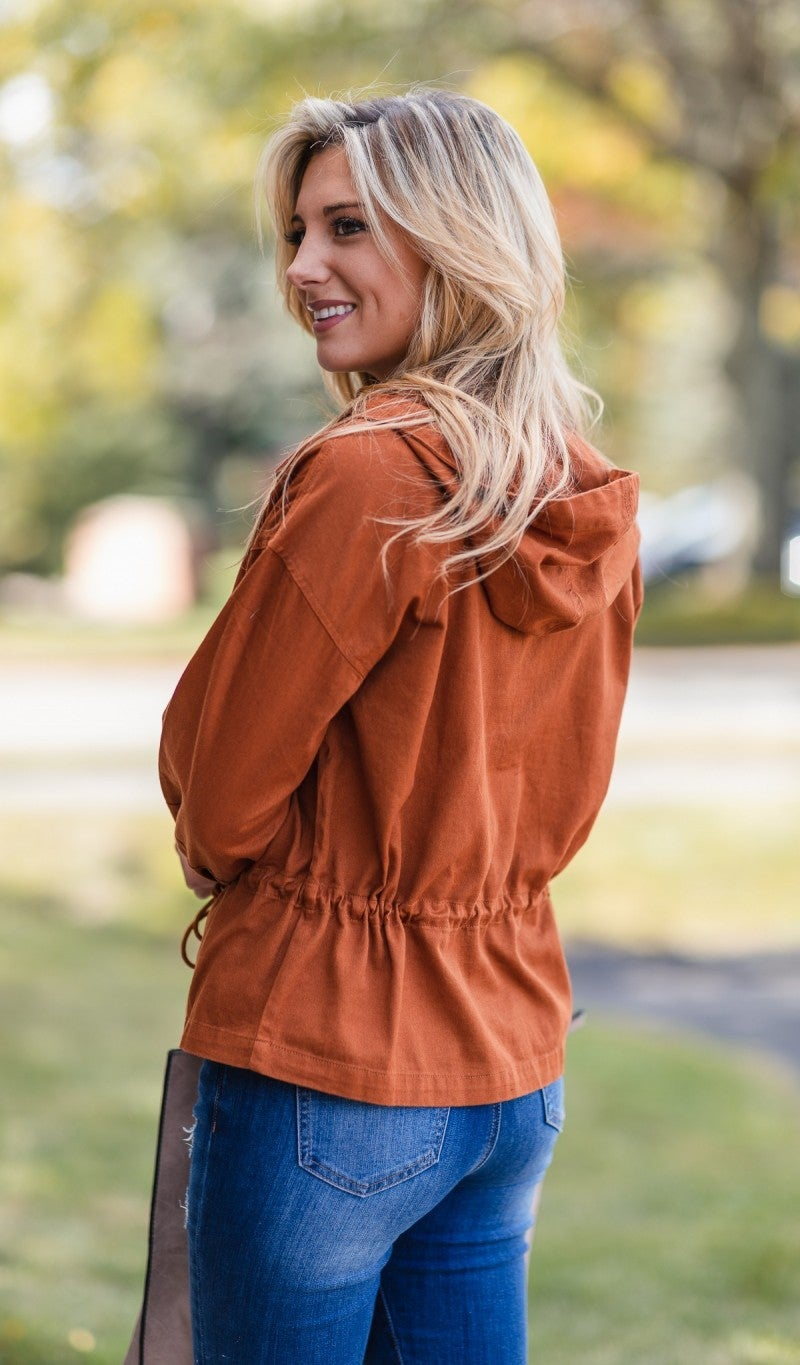 Fall Delight Jacket, Clay