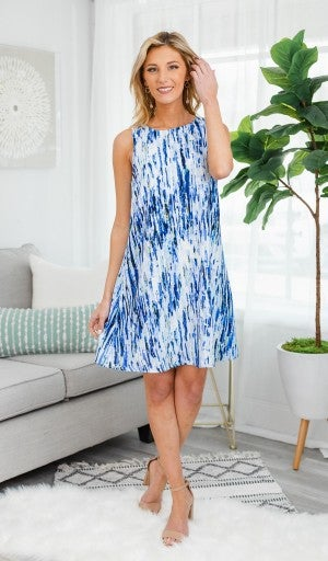 Cool As Can Be Dress, Blue