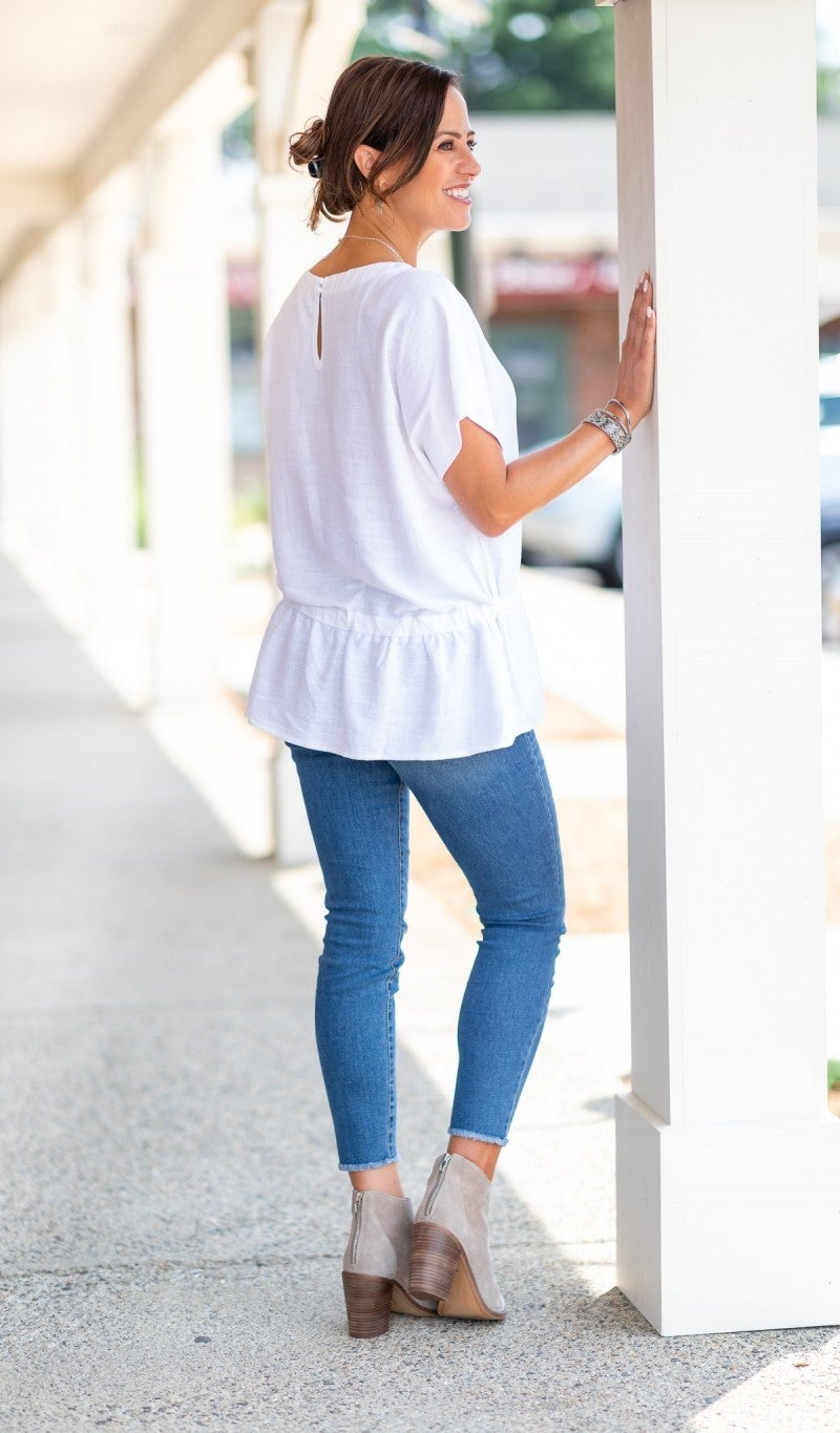 Effortless Style Top, White