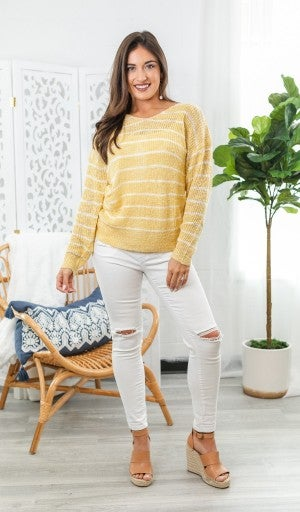 Sunny Days Ahead Sweater, Yellow