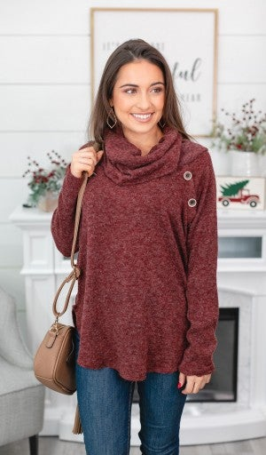 Ready Set Chill Top, Burgundy