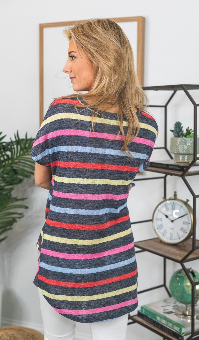 Great Feeling Striped Top, Multi