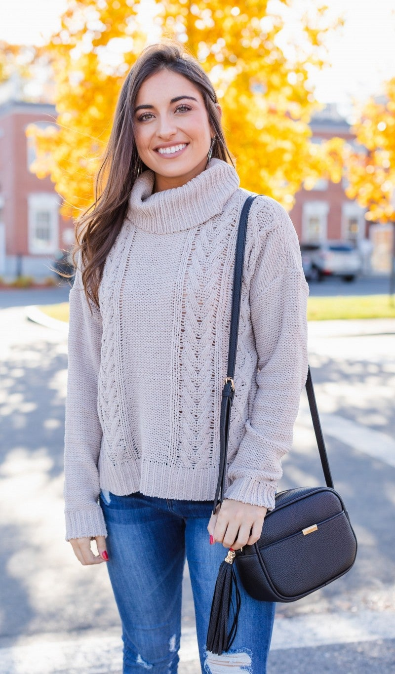 Keep You Close Sweater, Beige