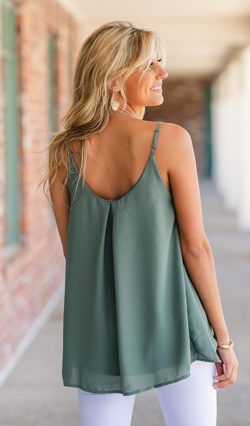 Everyone's NEW Favorite Tank in Olive, Blue, Ivory or Black