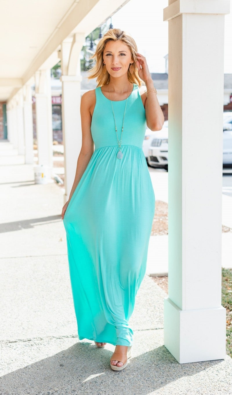 Traveling the World Dress, Mint